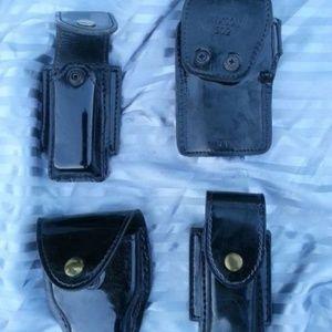 Gun Holster, 2 Magazine Holder, Handcuffs Case Set